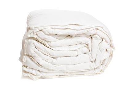 goose down duvet, comforter, new, folded